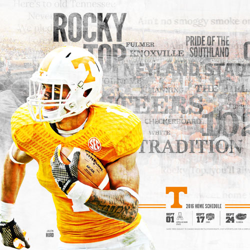 Concept UT Football Schedule Poster