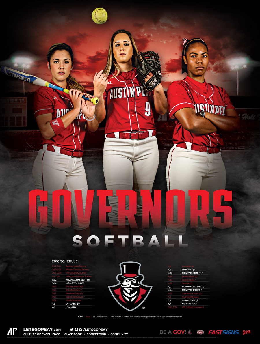 AP softball poster
