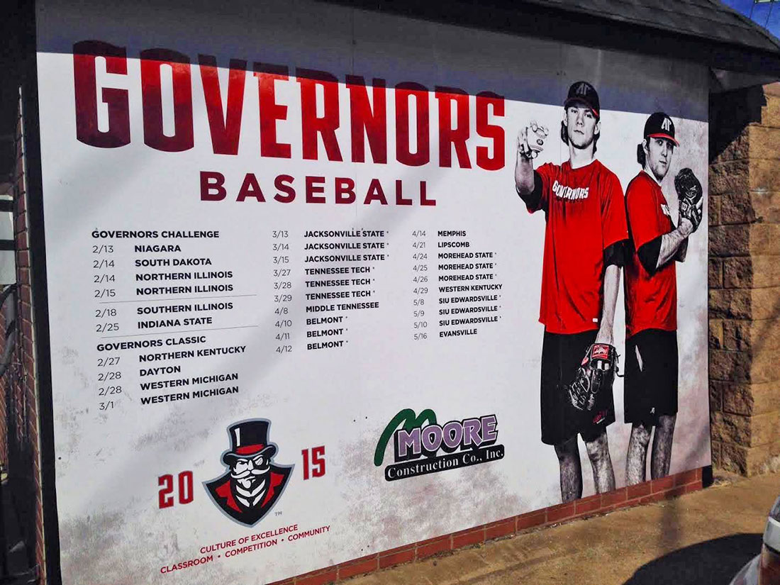 Baseball wall schedule