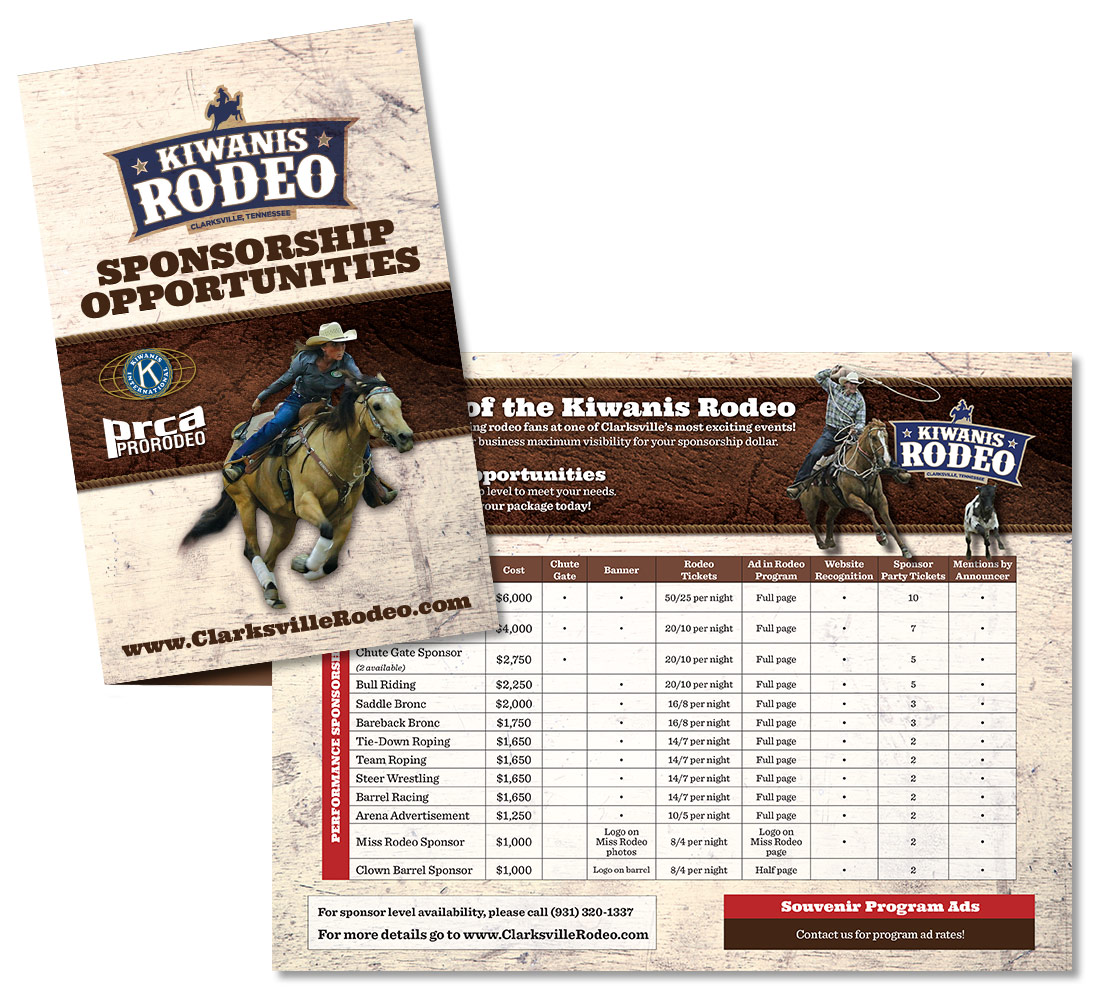 Kiwanis Rodeo brochure