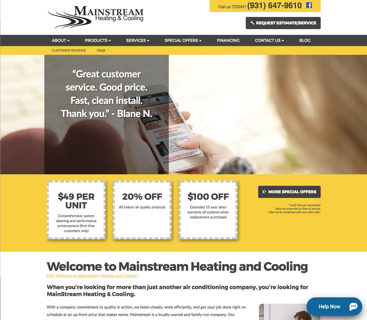 Mainstream website