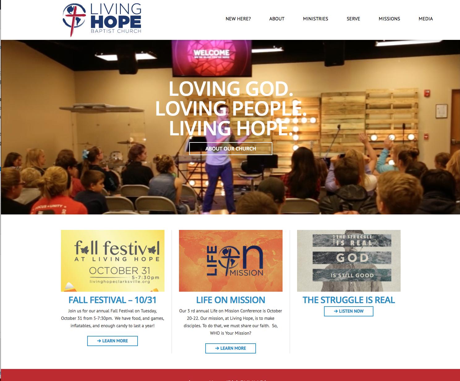 Living Hope website
