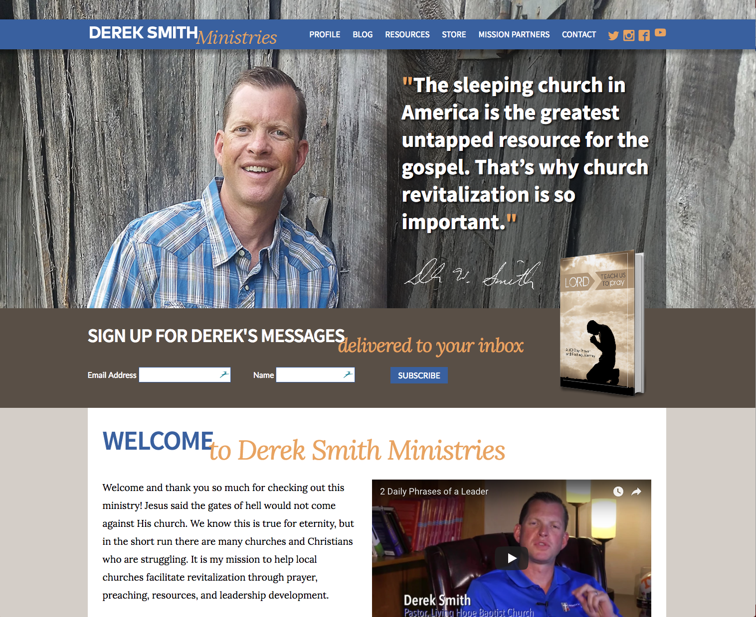 Derek Smith website