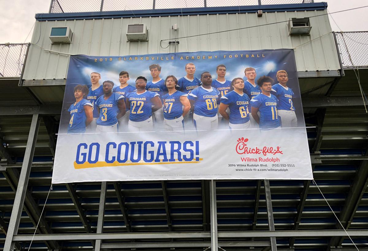 CA stadium banner