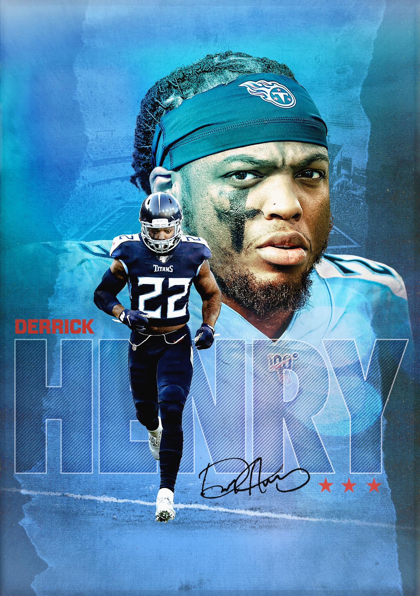 Derrick Henry Titans graphic