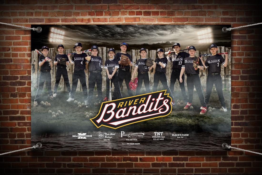 River Bandits banner mockup